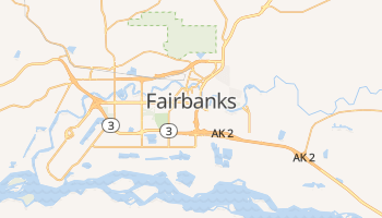 Mapa online de Fairbanks