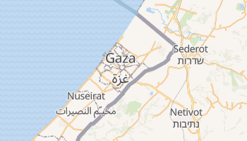 Mapa online de Gaza