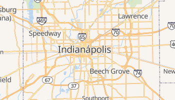 Mapa online de Indianápolis