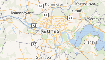 Mapa online de Kaunas