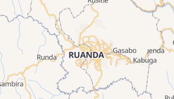 Mapa online de Kigali