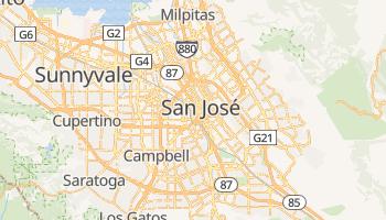 Mapa online de San Jose (USA)