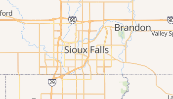 Mapa online de Sioux Falls