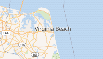 Mapa online de Virginia Beach