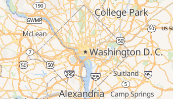 Mapa online de Washington