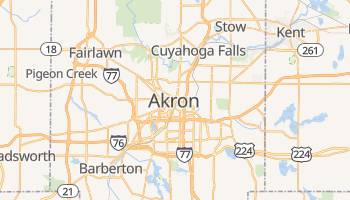 Carte en ligne de Akron