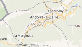 Carte en ligne de La Vella de l'Andorre
