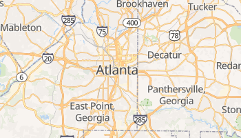Carte en ligne de Atlanta