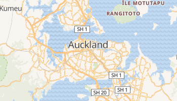 Carte en ligne de Auckland