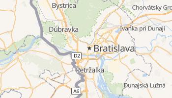 Carte en ligne de Bratislava