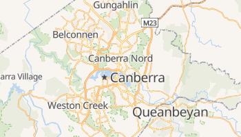 Carte en ligne de Canberra