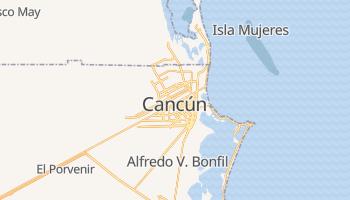 Carte en ligne de Cancún