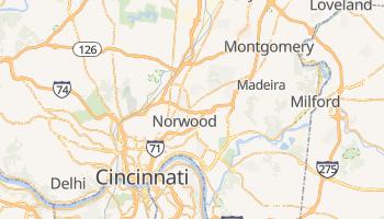 Carte en ligne de Cincinnati