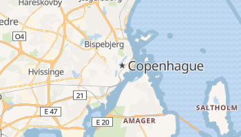 Carte en ligne de Copenhague