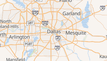 Carte en ligne de Dallas