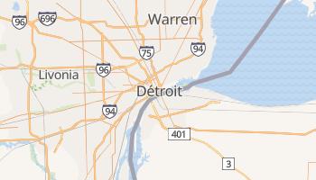 Carte en ligne de Detroit