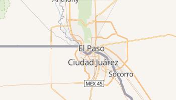 Carte en ligne de El Paso