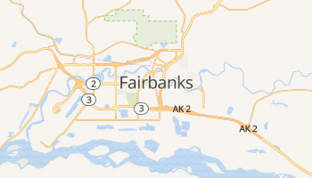 Carte en ligne de Fairbanks