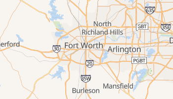 Carte en ligne de Fort Worth