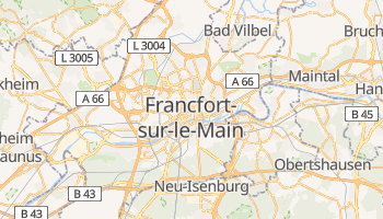 Carte en ligne de Francfort-sur-le-Main