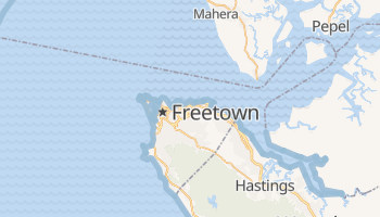 Carte en ligne de Freetown
