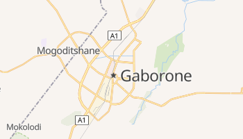 Carte en ligne de Gaborone