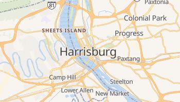 Carte en ligne de Harrisburg