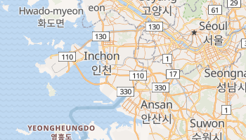 Carte en ligne de Incheon