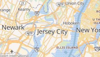 Carte en ligne de Jersey City