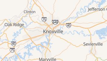 Carte en ligne de Knoxville