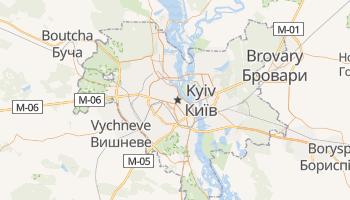Carte en ligne de Kiev