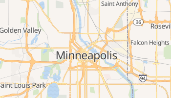 Carte en ligne de Minneapolis