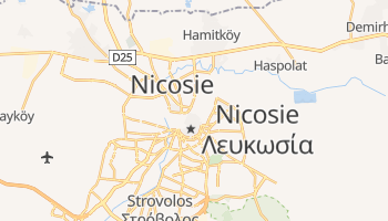 Carte en ligne de Nicosie