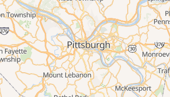 Carte en ligne de Pittsburgh