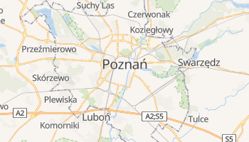 Carte en ligne de Poznań