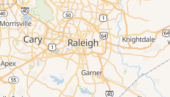 Carte en ligne de Raleigh