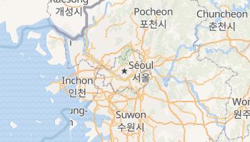 Carte en ligne de Séoul