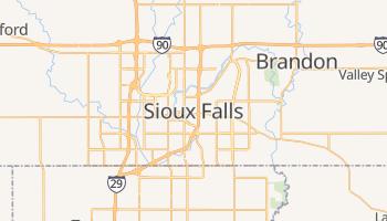 Carte en ligne de Sioux Falls