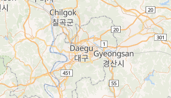 Carte en ligne de Taegu