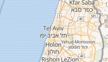 Carte en ligne de Tel-Aviv