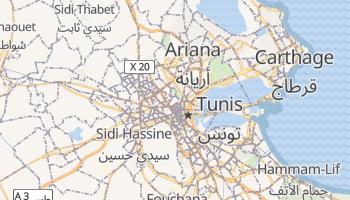 Carte en ligne de Tunis