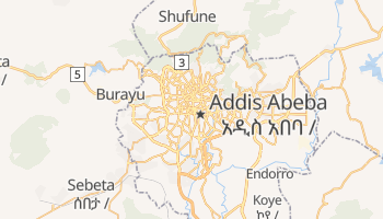 Mappa online di Addis Abeba