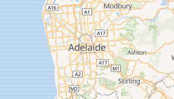 Mappa online di Adelaide