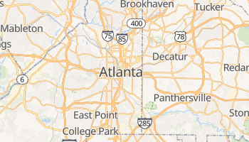Mappa online di Atlanta