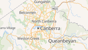 Mappa online di Canberra