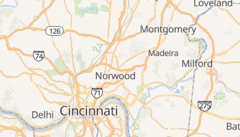 Mappa online di Cincinnati