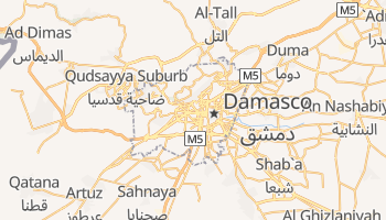 Mappa online di Damasco