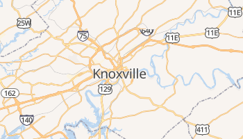Mappa online di Knoxville