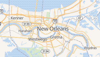 Mappa online di New Orleans