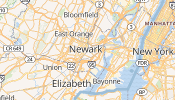 Mappa online di Newark